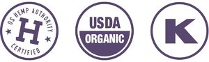 US Hemp Authority Certified, USDA Organic, Kosher Certified